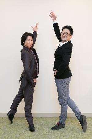 町田樹さんと番組MCの宮本賢二さん