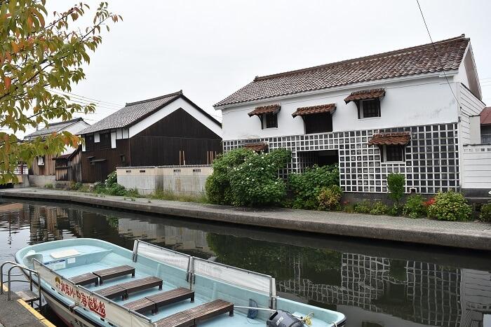 米子城、外堀、旧加茂川