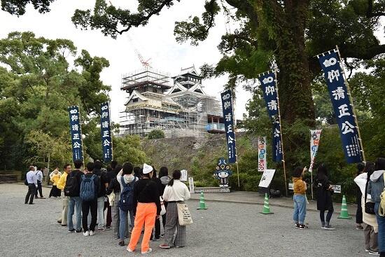 熊本城、くまもとよかとこ案内人、