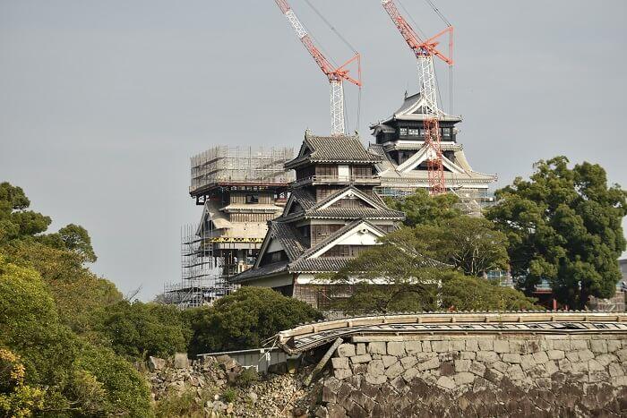 熊本城、宇土櫓、小天守、大天守