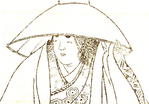 小式部内侍が大江山の歌の事 御簾