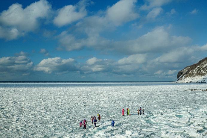 流氷ウォーク。日本で流氷が見られる奇跡。