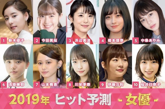 「2019ヒット予測」女優部門