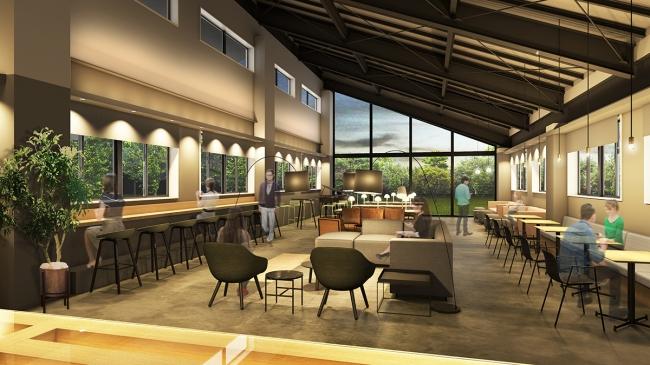 2019年5月にオープン予定の信濃町ノマドワークセンターの内装イメージ