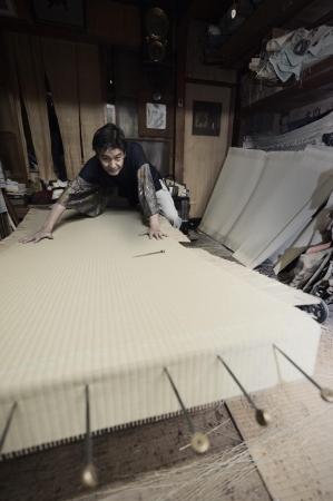 藤井畳店 修復風景