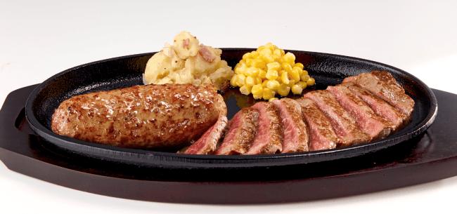 『極み炭焼き ブロンコハンバーグ&炭焼き 和牛ステーキコンビセット』