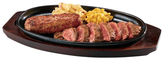 『極み炭焼き ブロンコハンバーグ&炭焼き カイノミステーキコンビセット』