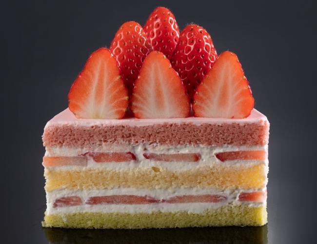 ひな祭りケーキの断面