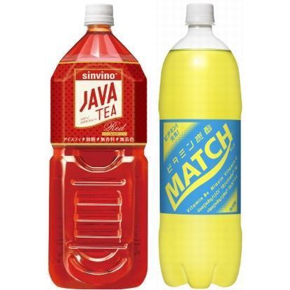 5月1日出荷分から値上げする「マッチ」「ジャワティ」の大型PET(大塚食品)