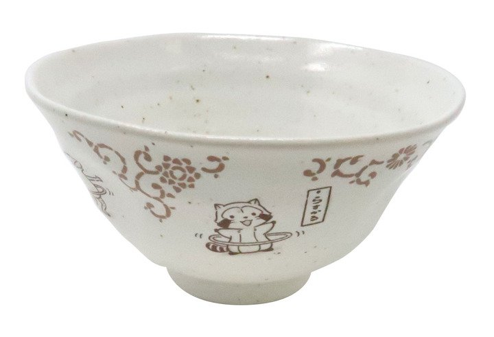 ラスカルin鳥獣戯画 茶碗