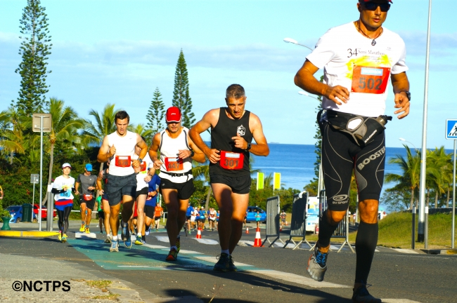 ニューカレドニア・モービル国際マラソン大会の様子