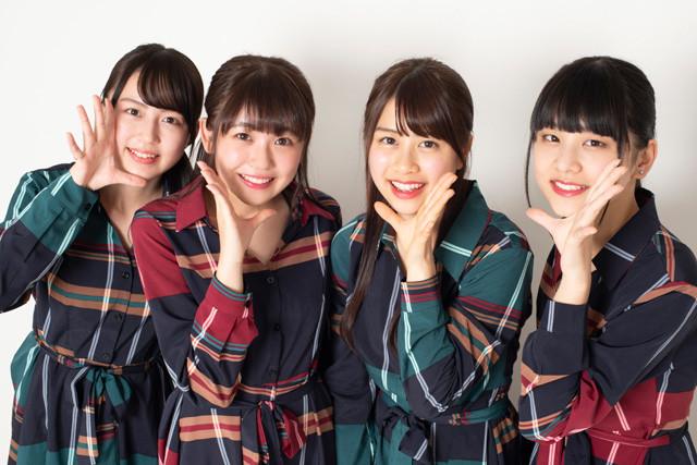 2017年8月結成の「たけやま3.5」。メンバー全員が愛媛県出身で、現在は東京、愛媛を中心に活動を行なう。初の全国流通CDである2ndシングル『聖音』が発売中。左から、星川遥香、武田雛歩、脇田穂乃香、濵邊咲良