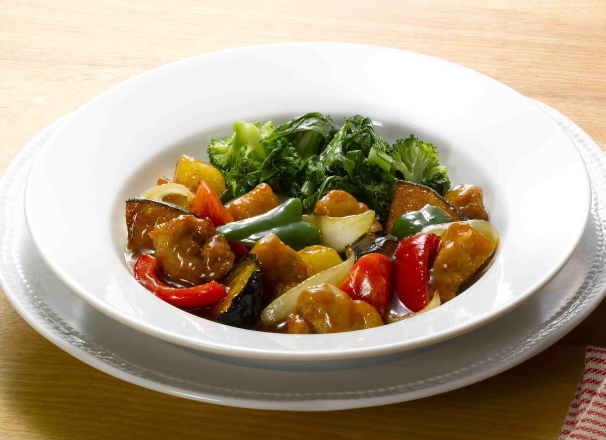 ロイヤルホスト 国産豚と彩り野菜の甘酢ソース