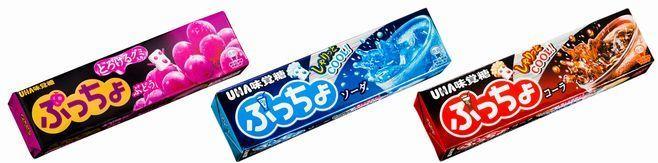 「ぷっちょ」(ぶどう・ソーダ・コーラ)