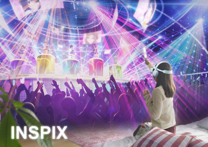 スマホ向けVR音楽ライブサービス 「INSPIX」2019年配信