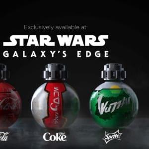 コカ・コーラ社ドリンク スター・ウォーズ:ギャラクシーズ・エッジ限定デザインボトル