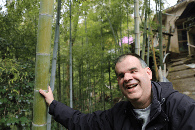 四覚プロジェクトにて始めての竹を触覚で楽しむ