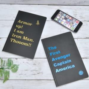 デルフィーノ マーベル 箔ノート アイアンマン&キャプテン・アメリカ