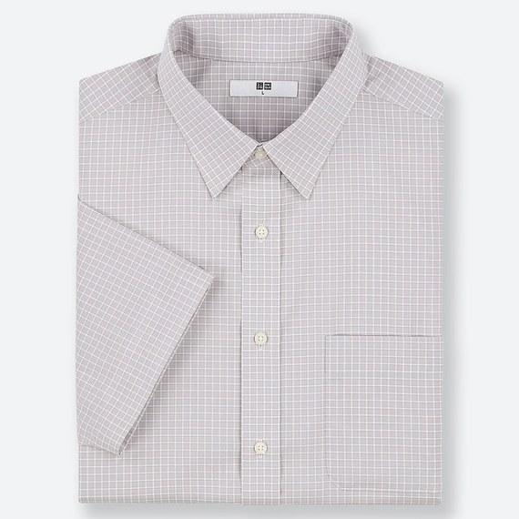 ケアチェックシャツ