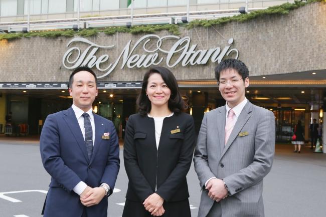 左から:広報 湯本氏、人事総務部・人事課 支配人 今井氏、人事課 浅野氏