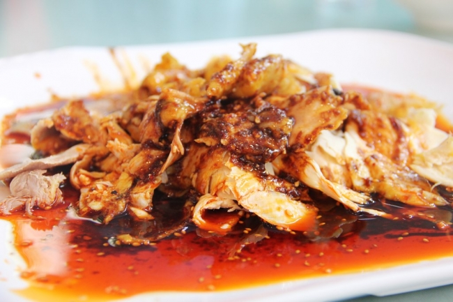 第5弾で食べる料理の一つ、四川省崇州の名物「天主堂鶏片」