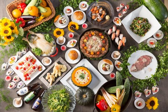 ▲九州の食材・郷土料理が並ぶディナーブッフェ イメージ