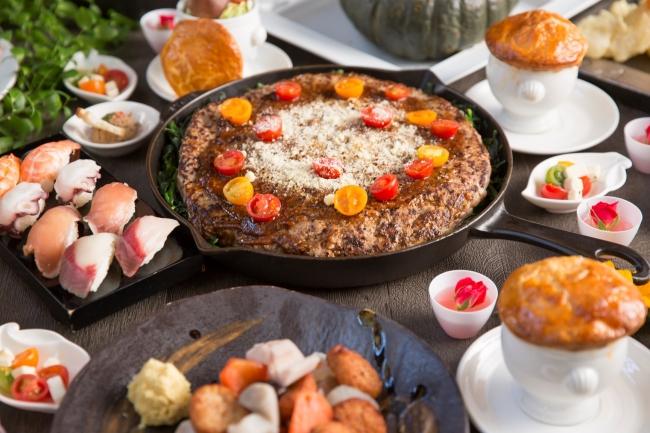 ▲バラエティ豊かな約50種類の料理・デザート