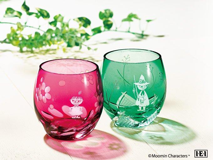 限定数量の特別品「ムーミン 江戸切子グラス」