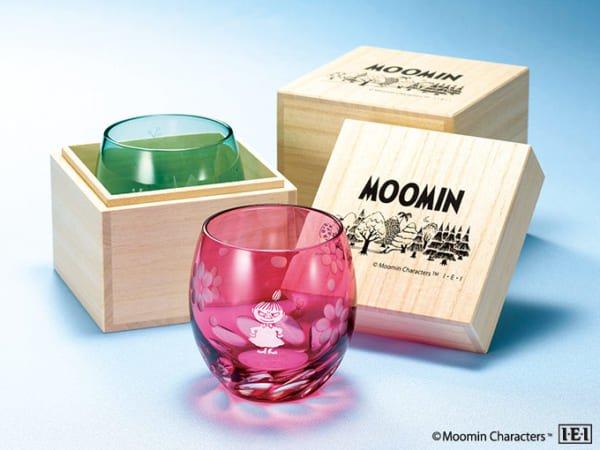高級桐箱に収めてお届け「ムーミン 江戸切子グラス」