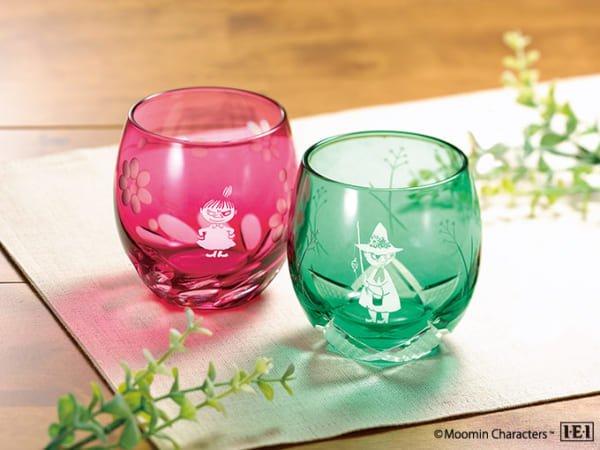 インペリアル・エンタープライズ「ムーミンの江戸切子ペアグラス」