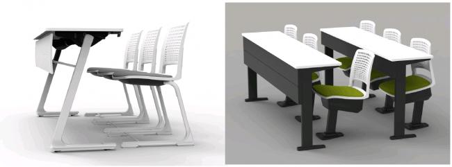【新製品】多様な学び方や体格・姿勢の変化に合わせることができる講義室用テーブル&チェア