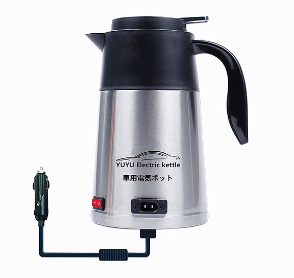 YUYU 12V/24V兼用 車用電気ポット 車用湯沸かし器 1200ml大容量