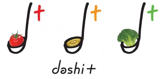 出汁で野菜を食べるdashi+