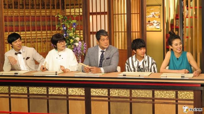 (左から)東貴博、光浦靖子、高田延彦、鈴木福、萬田久子