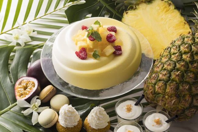 チーズとの相性抜群「パイナップルのレアチーズケーキ」