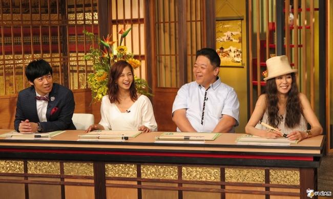 (左から)東貴博、安田美沙子、伊集院光、萬田久子