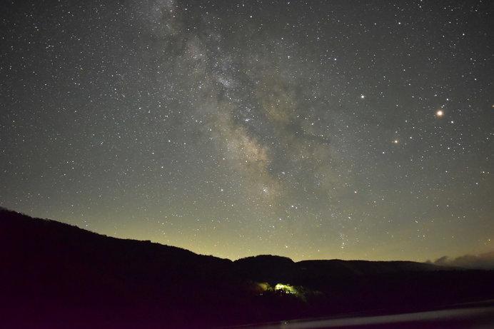 晴れた夜には満天の星空が!