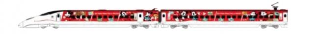 JR九州 Waku Waku Trip 新幹線ミッキーマウス&ミニーマウスデザイン(8月1日~11月27日運転)(C)Disney