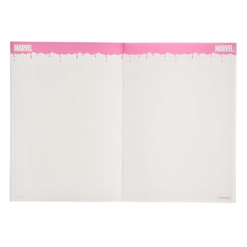 マーベル ノート ロゴ ドリッピング PINK2