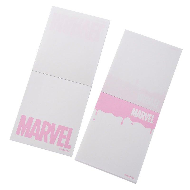 マーベル メモ帳 ロゴ ドリッピング PINK2