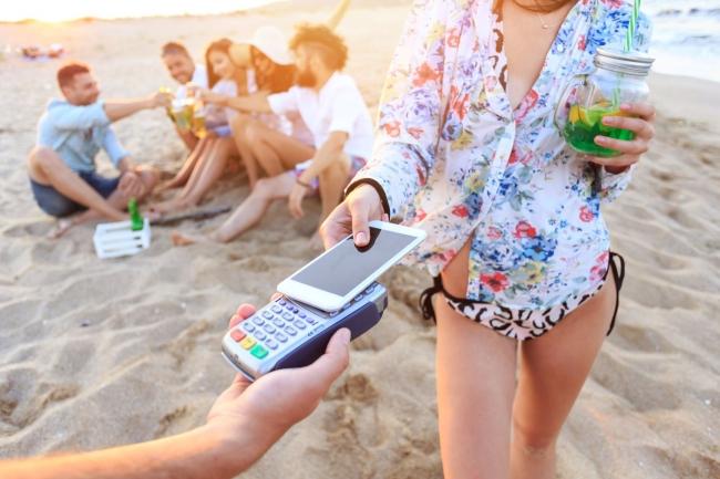 電子決済海辺
