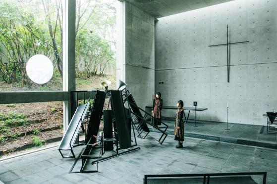 風の教会での展示の様子(2018年)