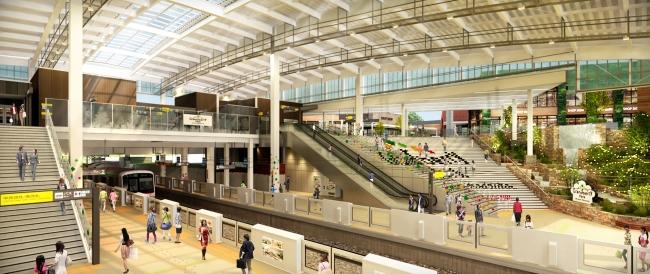 ▲「南町田グランベリーパーク駅」駅舎リニューアル完成後イメージ
