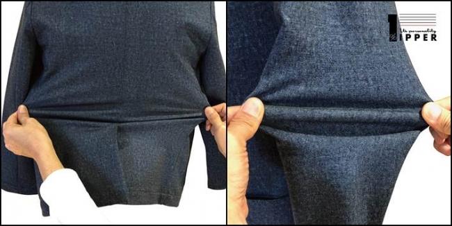 左)腰回り 右)袖回り