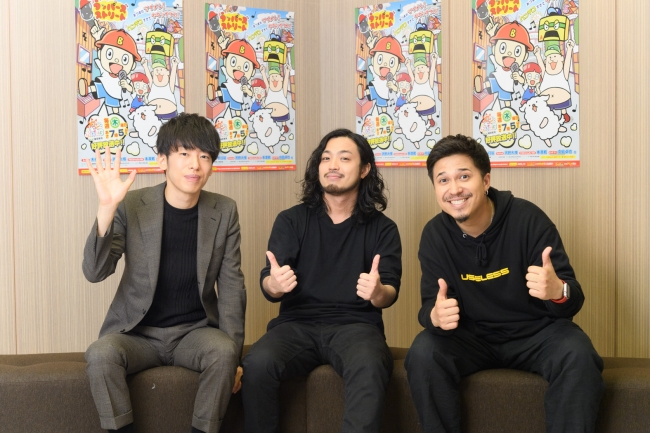 左から、DJ松永、R-指定、木村昴