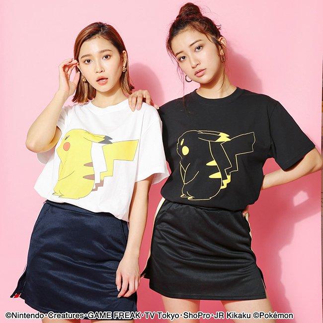 【ポケモン】ピカチュウ/カラーTシャツ