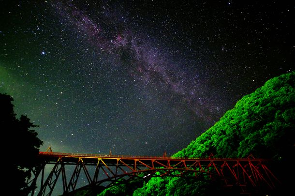 宇奈月駅周辺の星空