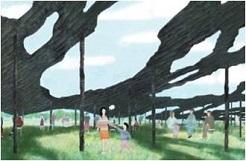 「焼杉のひさし」(仮称) 設計石上純也 本プロジェクト案