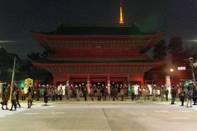 参考画像:参加者は大本山増上寺とその周辺を自由に回遊しながら作品を楽しむことができる