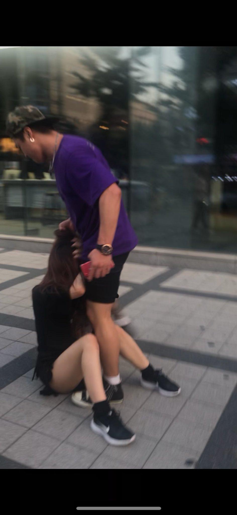 韓国人男性が女性に暴行